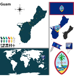 Guam map world vector