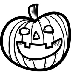 halloween pumpkin cartoon for coloring vector image