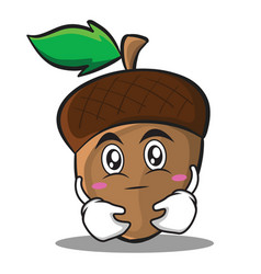 have an idea acorn cartoon character style vector image