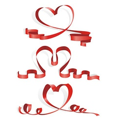 Heart from ribbon vector
