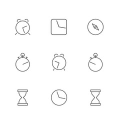 icons clock of thin lines vector image