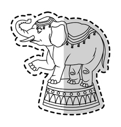 Isolated circus elephant design vector