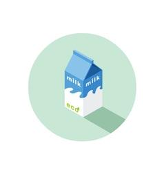 Isometric of eco milk box vector