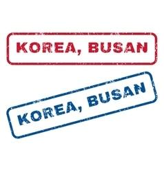 Korea busan rubber stamps vector