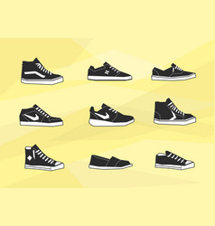 men shoes icons vector image