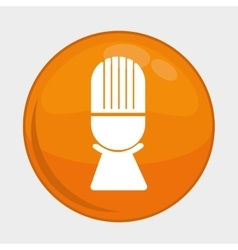 Microphone button icon social media design vector