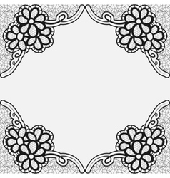 Monochrome lace frame Template greeting card or vector image vector image
