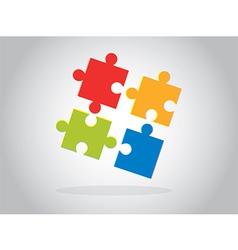 Multicolor puzzle pieces vector image