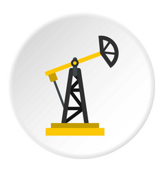 Oil rig icon circle vector