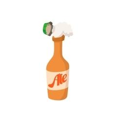 Open bottle of beer cartoon icon vector