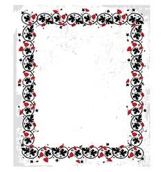 Poppy frame vector image