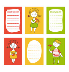 print templates set vector image vector image