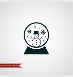 Snow globe icon simple vector