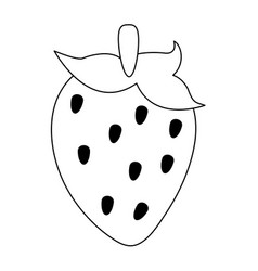 Strawberry fruit icon imag vector