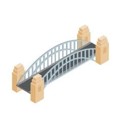 Sydney harbour bridge icon isometric 3d style vector