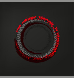 Tire track frame vector