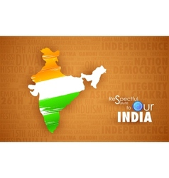 Tricolor Indin Map vector image vector image