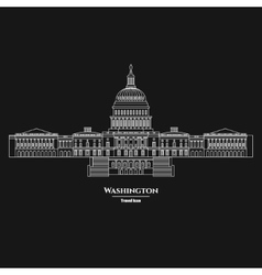 Washington United States Capitol Icon 1 vector image