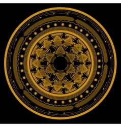 mandala symbol in a circle consisting of several vector image