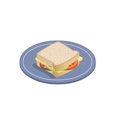 isometric of sandwich vector image