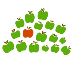 Isolated apples one red the other green vector image