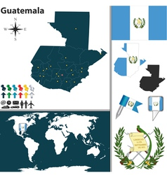 Guatemala map world vector