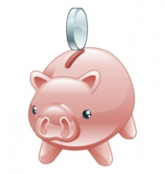 savings cute shiny piggy bank vector image