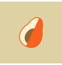 Avocado food flat icon vector