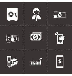 Mobile banking icons set vector