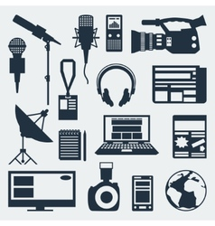 Set of journalism icons vector