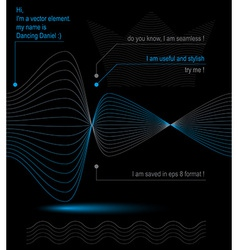 3d futuristic flowing lines light dynamic vector