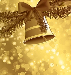 Christmas card background golden vector