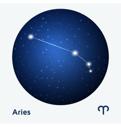 Aries constellation vector