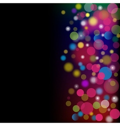 Abstract color background with circles vector