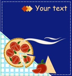 Pizza style patchwork for invitation vector