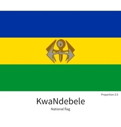 National flag of kwandebele with correct vector
