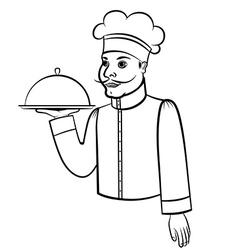 cook contour vector image