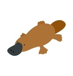 Australian platypus icon isometric 3d style vector image