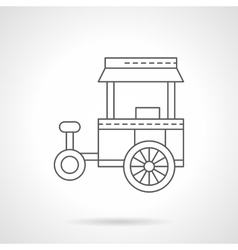 Store on wheels flat thin line icon vector