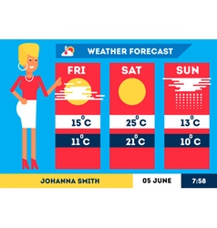 Weather forecast 1 vector