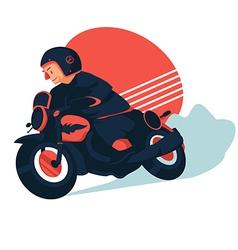 Retro biker vector