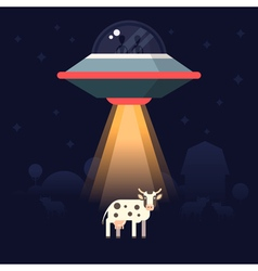Aliens Farm Cow vector image