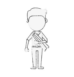 architect faceless avatar vector image