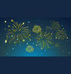Background design with fireworks in sky vector