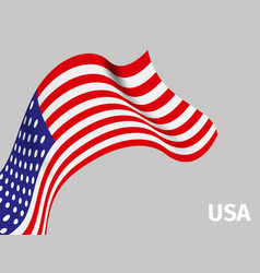 background with usa wavy flag vector image