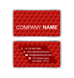 business card template editable neat red cubes vector image vector image