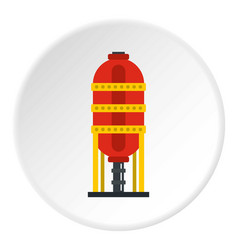 Capacity for oil storage icon circle vector