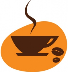coffee drinking vector image vector image