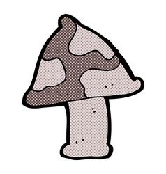 Comic cartoon toadstool vector