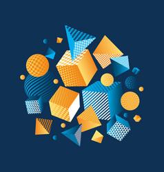 concept color 3d geometric composition vector image vector image